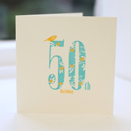 50th Birthday Card - Letterpress