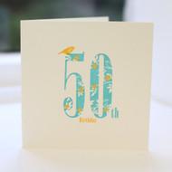 50th Birthday Card - Letterpress