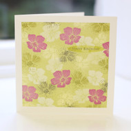 Lime Floral Birthday Card