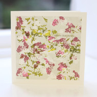 Hawthorn Flower Birthday Card