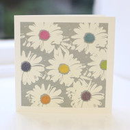 Grey Daisy Greeting Card