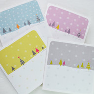 Snowfall Christmas Cards - Pack of 4