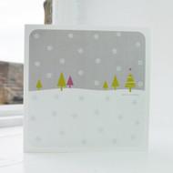 Snowfall - Grey Christmas Card