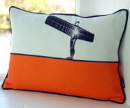 Angel of the North Cushion - Orange