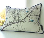 Birdsong Cushion - Blue