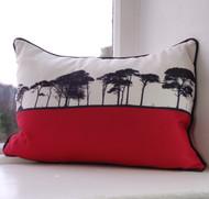 County Cork Landscape Cushion - Pink