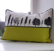 Leeds Landscape Cushion - Lime