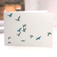 Flying Ducks Greeting Card