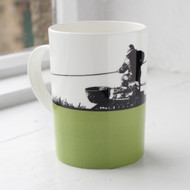 Fishing Bone China Mug