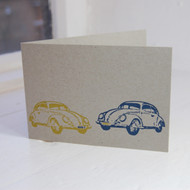 Beetle Letterpress Greeting Card