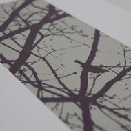 Purple Blackbirds Screen Print
