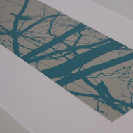Turquoise Blackbirds Screen Print