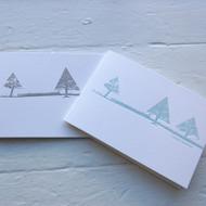 Letterpress Landscape Christmas Card Pack