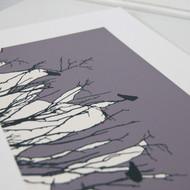 Grey/Lilac Watching Screen Print