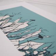 Turquoise Watching Screen Print