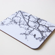 Grey Birdsong Coaster