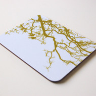 Lime Birdsong Coaster
