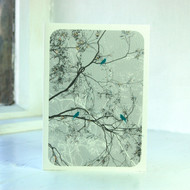 Oriental Grey Greeting Card