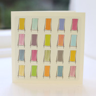 Deckchairs Greeting Card