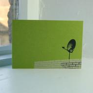 Satellite Dish Greeting Card