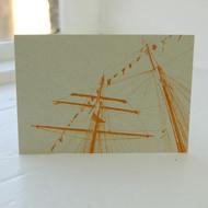 Tall Ship Masts Postcard