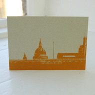 Waterloo Bridge & St. Pauls Postcard