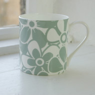 Sage Floral Bone China Mug - Discontinued