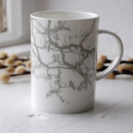 Grey Birdsong Bone China Mug