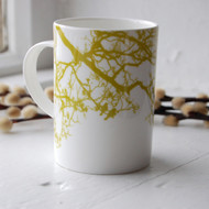 Lime Birdsong Bone China Mug
