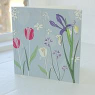 Tulip & Iris Greeting Card