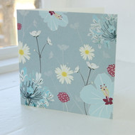 Daisy & Hibiscus Greeting Card