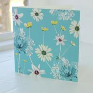 Daisy & Agapanthus Greeting Card