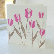 Tulip Letterpress Greeting Card