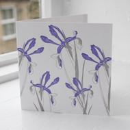 Iris Letterpress Greeting Card