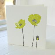 Poppy Letterpress Greeting Card