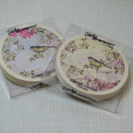 Vintage Style Bird Drink Coaster Set