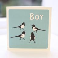 Magpie Boy Greeting Card