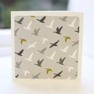 Flying Ducks Grey Greeting Card
