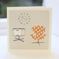 Chair & TV Greeting Card