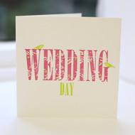 Wedding Day Letterpress Greeting Card