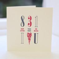 Love Letterpress Greeting Card