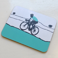Male Cyclist Coaster