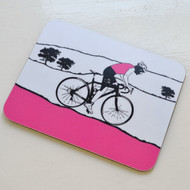 Female Cyclist Coaster