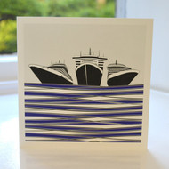 Ships Greeting Card - Blue
