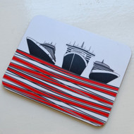 Ships Coaster - Red - DISCONTINUED
