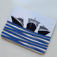 Ships Coaster - Blue - DISCONTINUED