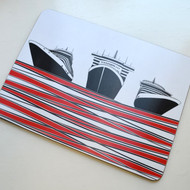 Ships Table Mat - Red - DISCONTINUED