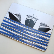 Ships Table Mat - Blue DISCONTINUED