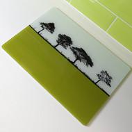 Landscape Glass Worktop Saver - Lime