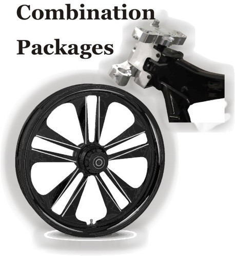 """Combination Package - Install 26"""" Big Wheel on Harley Bagger"""